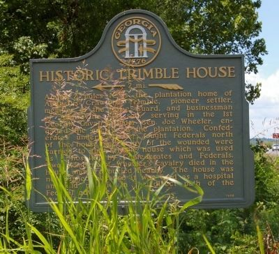 Historic Trimble House Marker image. Click for full size.