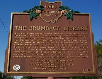 The Brumback Library Marker image. Click for full size.