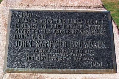 The Brumback Library Kiwanis Marker image. Click for full size.