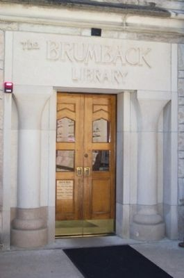 The Brumback Library Rear Entrance image. Click for full size.