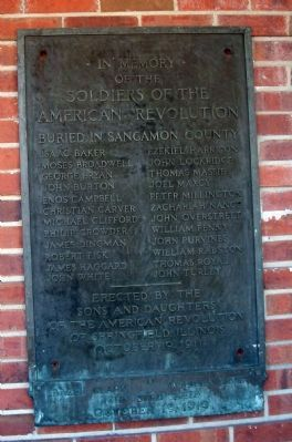 Soldiers of the American Revolution Marker image. Click for full size.