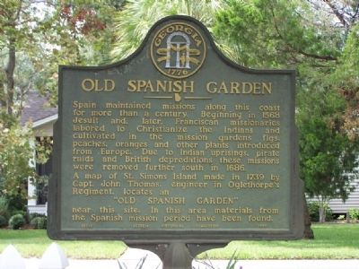 Old Spanish Garden Marker image. Click for full size.