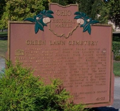 Green Lawn Cemetery Marker (Side A) image. Click for full size.