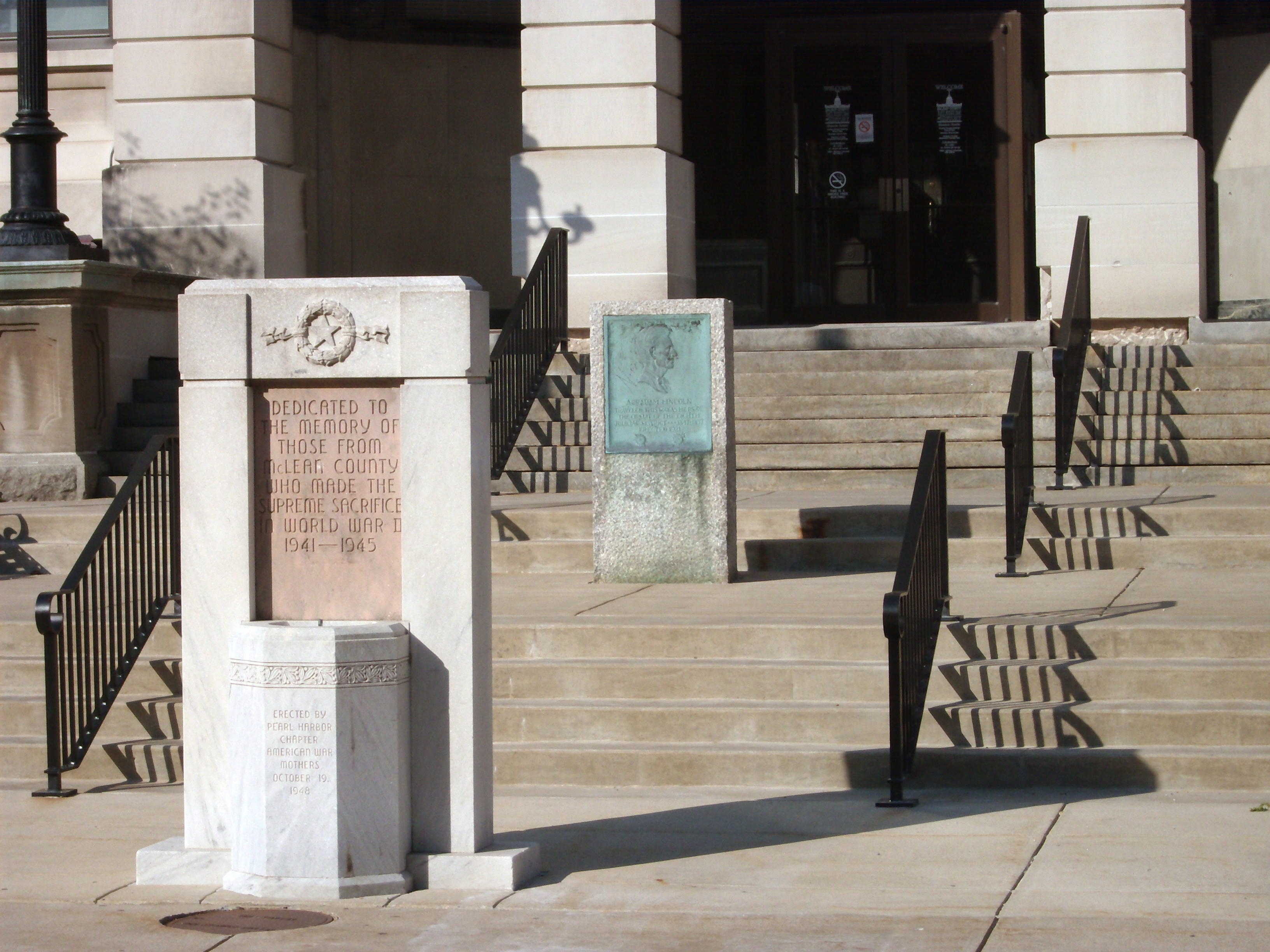 Entrance to McLean County Museum - War Memorial