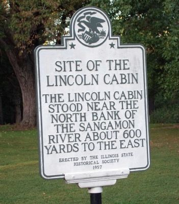 Site of the Lincoln Cabin Marker image. Click for full size.