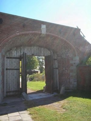 Main Gate at Fort Mifflin image. Click for full size.