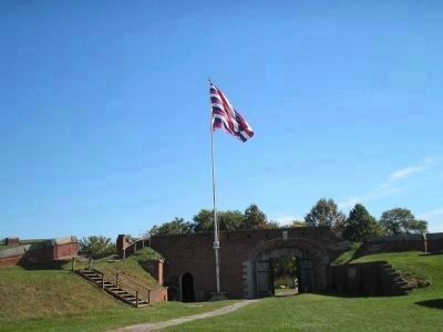 Main Gate of Fort Mifflin image. Click for full size.