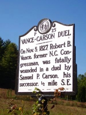 Vance-Carson Duel Marker image. Click for full size.
