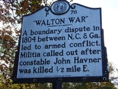 Walton War Marker image. Click for full size.
