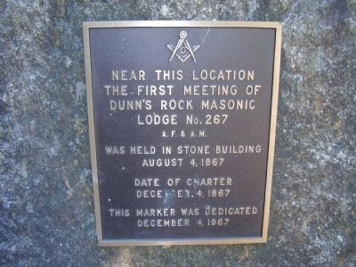 Dunn's Rock Masonic Marker image. Click for full size.
