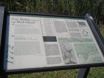 Fort Mifflin (Mud Fort) on Mud Island Marker image. Click for full size.