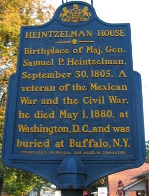 Heintzelman House Marker image. Click for full size.