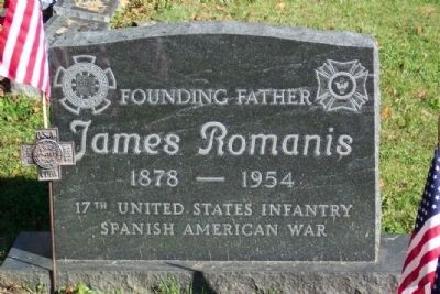 James Romanis, A Founding Father of the VFW image. Click for full size.