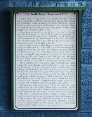 The Booth-Toney Shootout of 1878 Marker image. Click for full size.