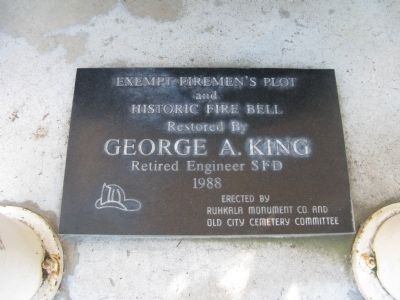 Plaque Located Under the Bell image. Click for full size.