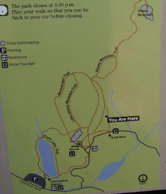 Glassy Mountain Trail Map image. Click for full size.