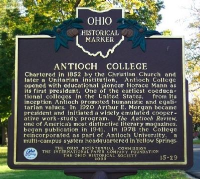 Antioch College Marker image. Click for full size.
