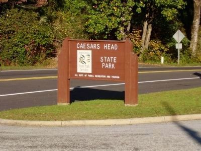 Caesers Head State Park Entrance image. Click for full size.