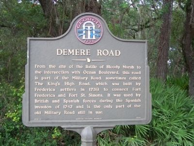 Demere Road Marker image. Click for full size.
