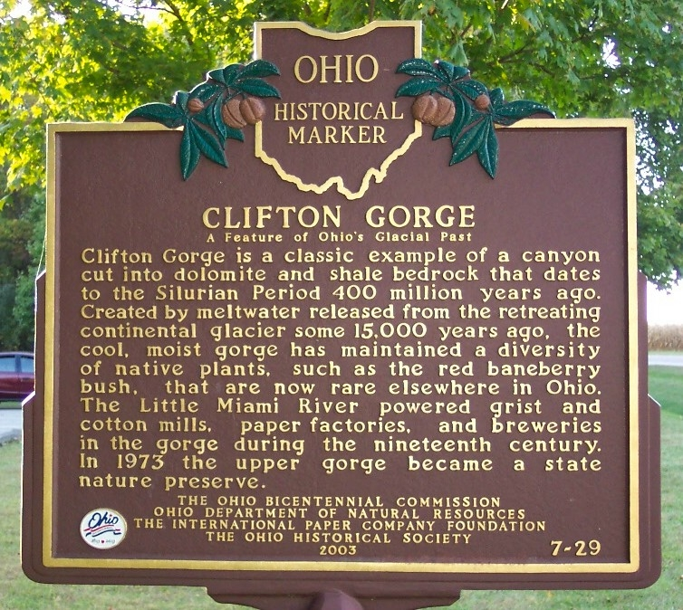 Clifton Gorge Marker