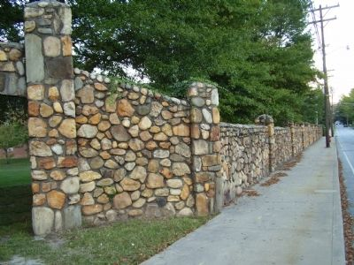 College Stone Wall And Gate image. Click for full size.