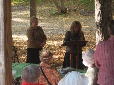 Fort Lisa Marker Rededication Ceremony image. Click for full size.