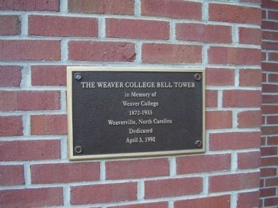Weaver College Bell Tower Marker image. Click for full size.