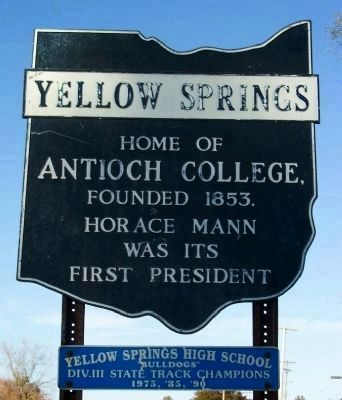 Yellow Springs, proud to be the home of Antioch College image. Click for full size.