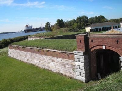 Fort Mifflin's Walls and Main Gate image. Click for full size.