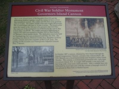 Civil War Soldiers Monument Marker image. Click for full size.