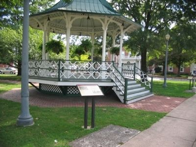 The Music Pavilion / Gazebo and Marker image. Click for full size.