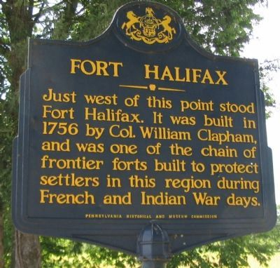 Fort Halifax Marker image. Click for full size.