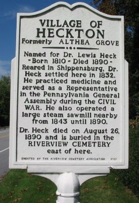 Village of Heckton Marker image. Click for full size.