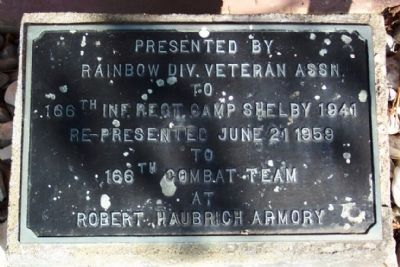 166th Infantry Regiment Marker image. Click for full size.