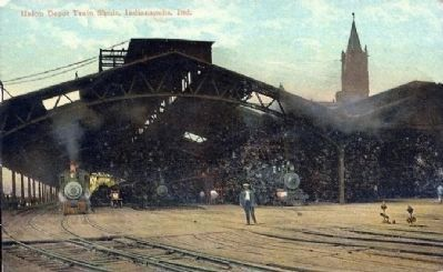 Post Card Photo of Old Indianapolis Union Station image. Click for full size.