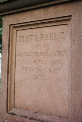 John Rarey Grave Marker in Groveport Cemetery image. Click for full size.