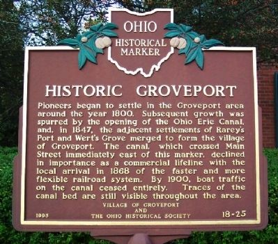 Historic Groveport Marker image. Click for full size.