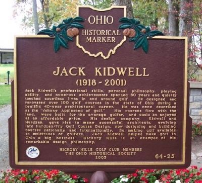Jack Kidwell Marker</b>(reverse) image. Click for full size.