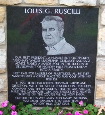 Nearby Louis G. Ruscilli Informational Marker image. Click for full size.
