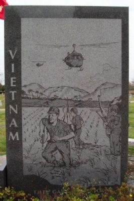 Vietnam War Engraving image. Click for full size.