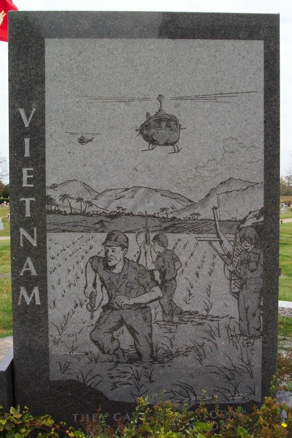 Vietnam War Engraving