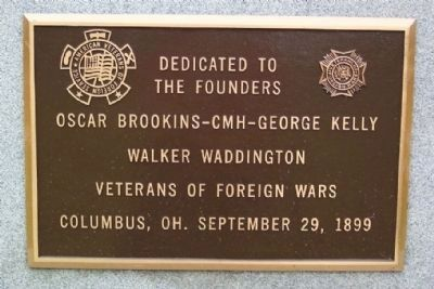 VFW Founders Plaque on Spanish-American War Monument image. Click for full size.
