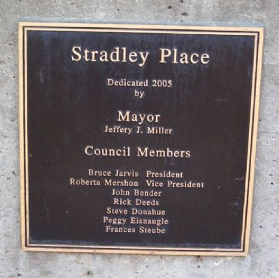 Stradley Place Dedication Marker image. Click for full size.