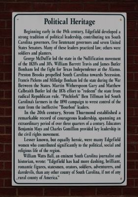Political Heritage Marker image. Click for full size.