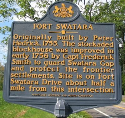 Fort Swatara Marker image. Click for full size.