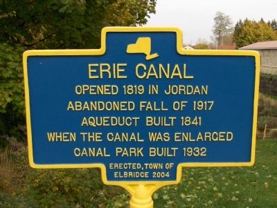Erie Canal Marker - Jordan, New York image. Click for full size.