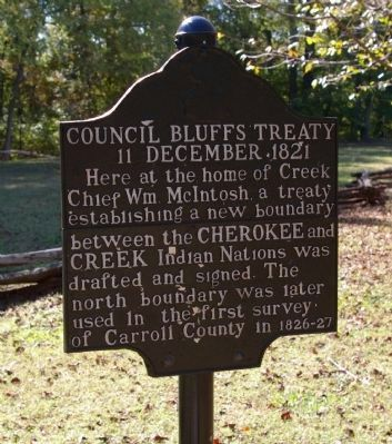 Council Bluffs Treaty Marker in 2008 image. Click for full size.