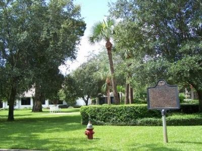 Epworth Pioneers Marker At Epworth-By-The-Sea, St Simons Island image. Click for full size.