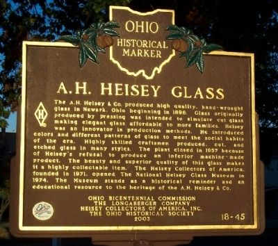 A. H. Heisey Glass Marker image. Click for full size.