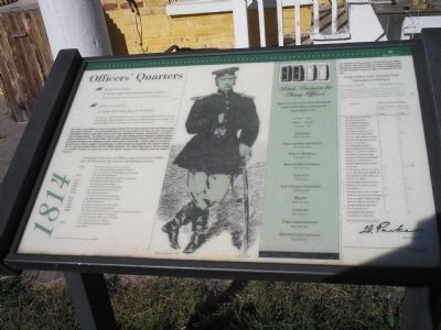 Officers' Quarters Marker image. Click for full size.